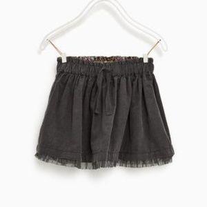 ⏰LAST CHANCE⏰ ZARA Baby Grey Corduroy Skirt